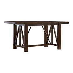 Riverside Furniture - Riverside Furniture Castlewood Gathering Table in Warm Tobacco - Riverside Furniture - Dining Tables - 3355433555KIT