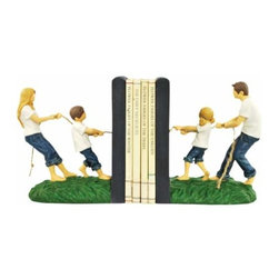 WL - 5.75 Inch Mother Son Father Daughter in Tug of War Blue Jeans Bookends - This gorgeous 5.75 Inch Mother Son Father Daughter in Tug of War Blue Jeans Bookends has the finest details and highest quality you will find anywhere! 5.75 Inch Mother Son Father Daughter in Tug of War Blue Jeans Bookends is truly remarkable.