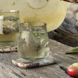 Recycled Glass Bubble Tumblers (set of 2) - About Roost: