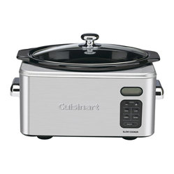 Cuisinart - Cuisinart 6.5-Quart Programmable Stainless Steel Slow Cooker - Touchpad control panel with LCD timed display