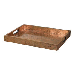 Uttermost - Uttermost Ambrosia Copper Tray 19871 - Wooden tray covered with oxidized copper sheeting. The oxidization of each piece will vary.