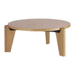 Jean Prouve Gueridon Bas Table - I just love the way Jean Prouve has always played with materials and showing how things can fit together in new and unexpected ways. This round coffee table is no exception. Great for your modern living room or as a craft table for little shavers who like to kneel at while they color in the playroom.