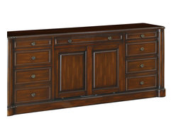 Coaster - Coaster Peterson Home Office Credenza in Walnut Finish - Coaster Peterson Home Office Credenza in Walnut Finish 800467