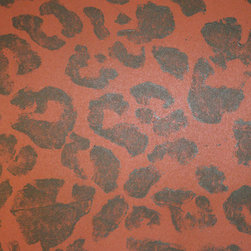 Wallpaper Leopard, Sahara - Custom hand block printed wallpaper, made to order especially for you.  Price listed is the PER YARD price.