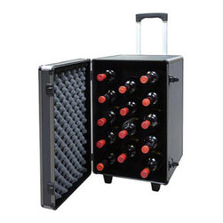 Vinotemp - Epicureanist Rolling Travel Case - Keep all your precious bottles safe! This quality rolling case was built to the finest standards, by Epicureanist, to allow you to travel with up to 12 bottles, when on-the-go! This case is constructed with padded interior and foam bottle racking to hold your wine in place while your in transit! Case includes a lock and key, keeping all of your prized contents safe and secure. A retractable handle and sturdy wheels let you roll your wine to its final destination!