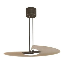 Fanimation - Fanimation Marea Ceiling Fan in Oil-Rubbed Bronze - Fanimation Marea Model FP8026OB in Oil-Rubbed Bronze with Amber Frosted Finished Blades.