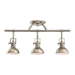 Kichler - Kichler No Family Association 3 Light Track Lighting in Polished Nickel - Shown in picture: Kichler Fixed Rail 3Lt Halogen in Polished Nickel