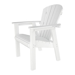 Polywood - Seashell Recycled Plastic Outdoor Dining Armchair - Slat back