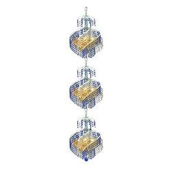 Elegant Lighting - Elegant Lighting 8053G14C Spiral 9-Light, Three-Tier Crystal Chandelier, Finishe - Elegant Lighting 8053G14C Spiral 9-Light, Three-Tier Crystal Chandelier, Finished in Chrome with Royal Cut CrystalsElegant Lighting 8053G14C Features: