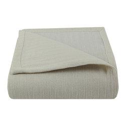 Luxor Linens - Albergare Luxury Blanket, Ivory - 100% Cotton