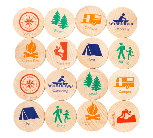 Tree Hopper Toys - Match Stacks - Camping Trip - A Tree Hopper twist on a classic educational game! MATCH STACKS is a durable, portable, and super cute memory and matching game.