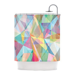 """Kess InHouse - Mareike Boehmer """"Graphic 32"""" Rainbow Abstract Shower Curtain - Finally waterproof artwork for the bathroom, otherwise known as our limited edition Kess InHouse shower curtain. This shower curtain is so artistic and inventive, you'd better get used to dropping the soap. We're so lucky to have so many wonderful artists that you'll probably want to order more than one and switch them every season. You're sure to impress your guests with your bathroom gallery in addition to your loveable shower singing."""