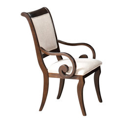 Coaster - Harris Arm Chair, Deep Rich Cherry - Set of 2 - This beautiful pedestal dining table and chair set will be a lovely addition to your semi-formal dining room.