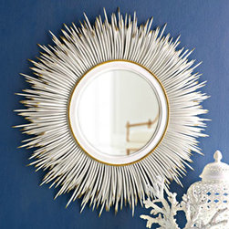 "White ""Porcupine Quill"" Mirror - Reflect all that spring sunlight and add a burst of chic style to your walls with this fun mirror."
