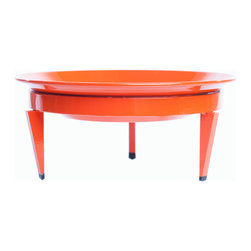 Steel Life - Mezzo Mod Dish, Citrus (Orange), 10x10 - It's a planter, it's a fruit bowl — it's really just perfect for anything you'd like to prop up on a pedestal. Pair this colorful dish with its larger counterparts for a multilevel display, or use on its own as a centerpiece. Either way, it brings presence to that whatever you choose to fill it with.