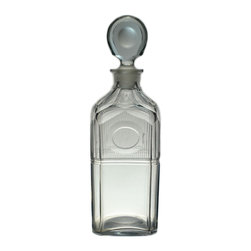 Lavish Shoestring - Consigned Square Cut Glass Whisky Decanter circa 1790, Antique English Georgian - This is a vintage one-of-a-kind item.