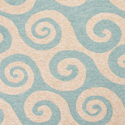 Jaipur Rugs - Coastal Pattern Blue Indoor/ Outdoor Rug - CI12, 2x3 - Navigate towards a fresh new approach to indoor-outdoor rugs with Jaipur's cheerful Coastal Living Indoor-Outdoor Collection. This bold range takes its styling cues from the ruggedly chic aesthetic of a casual seaside lifestyle. Polypropylene construction allows the durability needed for outdoor use and a relaxed sense of style equally at home, indoors or out.