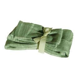 SHOO-FOO - Bamboo Guest Towels, Sage Green, 1 Set - Made of soft and absorbent 100% viscose from Organic Bamboo at 600g/sq meter, this 2-pcs guest towels set makes the perfect towel set for keeping in the bathroom and using every day. The fresh qualities of bamboo fibers make it perfect for frequent hand and face drying.