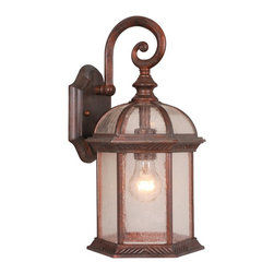 Vaxcel - Chateau Royal Bronze 16 Inch Outdoor Wall Light - Dimensions: 8 in. W x 8.5 in. L x 16 in. H.