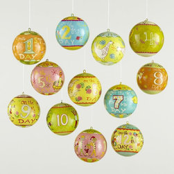 Michael Mabry Twelve Days of Christmas Ornaments - I love these ornaments for kids. I think they would quickly become family treasures.