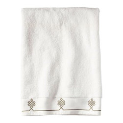 Serena & Lily - Bark Gobi Bath Towel - We believe a bath towel should be one of life's little luxuries. Woven in Portugal from supremely soft cotton, they're lofty, absorbent and quick to dry. The embroidered motif was borrowed from our best-selling sheets, adding the perfect color pop to classic white bath and hand towels. Best of all-they won't fade, fray or wear out.