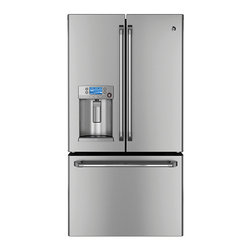 GE Cafe Series ENERGY STAR 23.1 Cu. Ft. Counter-Depth French-Door Refrigerator ( - Features: