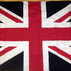 Sewn Cotton British Union Jack Flag - I'm a big fan of flags framed above a couch or hung casually by their grommets above a bed. The graphic punch of the Union Jack will look amazing in any room.