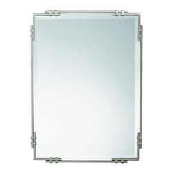 WESTWOOD - WESTWOOD 41046NI Silverton Transitional Rectangular Mirror - As a match to the 5346 NI BeautyWrap bathroom fixture, purchase this fine Brushed Nickel beveled mirror to complete a uniform look for your Beauty wrap lighting system.