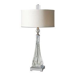 Uttermost - Uttermost 26294-1 Grancona Twisted Glass Table Lamp - Uttermost 26294-1 Grancona Twisted Glass Table Lamp