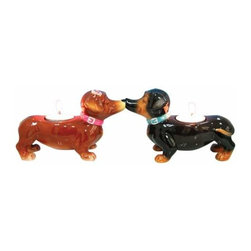 WL - 3.25 Inch Kitchenware Dachsunds Puppies Brown Tea Light Candle - This gorgeous 3.25 Inch Kitchenware Dachsunds Puppies Brown Tea Light Candle has the finest details and highest quality you will find anywhere! 3.25 Inch Kitchenware Dachsunds Puppies Brown Tea Light Candle is truly remarkable.