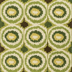 """Loloi Rugs - Loloi Rugs Enzo Collection - Lime, 7'-6"""" x 9'-6"""" - The Enzo Collection takes this high-fashion pattern outdoors. The allover Ikat designs enjoy a rich, bold, bright palette. The hand-hooked polypropylene and polyester rugs feature three dimensions of texture including hooks and cut pile for an overall look that exceeds expectations for an outdoor product."""