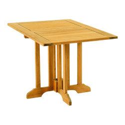 "Les Jardins - Gate leg table rectangular 47"" x 32"" x 29"" - Teak wood Gate leg table rectangular 47"" x 32"" x 29"""
