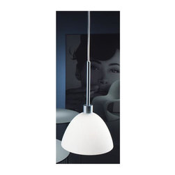 Zaneen - Willy 6.25 in. 1-Light Suspension Pendant (White) - Color: White. Requires one 60 watt T4 halogen G9 base lamp. 120VAC voltage supply. Contemporary style. Environmental protection rating IP20. North American standard certified. cCSAus safety approved. Metallic gray color. Made in Italy. 6.25 in. Dia. x 9.87 in. H (9 lbs.)