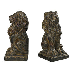 Sterling Industries - Sterling Industries 87-8014 Lion Book Ends - Bookend (2)