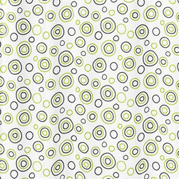 Sweet Jojo Designs - Spirodot Lime and Black Shower Curtain by Sweet Jojo Designs - The Spirodot Lime and Black Shower Curtain by Sweet Jojo Designs, along with the  bedding accessories.
