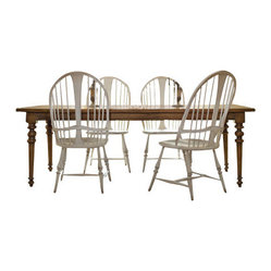 Rectangle Leg Dining Table with Leaf