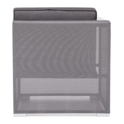 Zuo Modern - Zuo Modern Clear Water Bay Outdoor Corner X-080307 - Versatile and durable, the Clear Water Outdoor series will transform any outdoor setting. The frame is aluminum with a textile weave outer covering. Cushions are made of an antimicrobial foam with a UV and water resistant fabric cover.