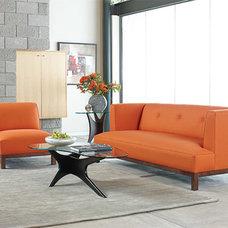 Scandinavian Designs - Fabric Sofas - Lamare Sofa-Saffron