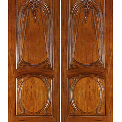 Art Nouveau Entry Doors Model # AN-2013 - Art Nouveau is an art, style, and architecture recognized around the globe.  This door and collection will set you apart from the rest while giving your home a very unique look.  These doors have fine carvings, iron work and most have a operable glass panel to facilitated the cleaning of the iron panel.  Look at the entire collection to find the right fit!