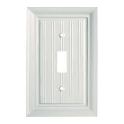 Liberty Hardware - Liberty Hardware 126358 Beadboard WP Collection 3.15 Inch Switch Plate - White - A simple change can make a huge impact on the look and feel of any room. Change out your old wall plates and give any room a brand new feel. Experience the look of a quality Liberty Hardware wall plate.. Width - 3.15 Inch,Height - 4.9 Inch,Projection - 0.4 Inch,Finish - White,Weight - 0.13 Lbs