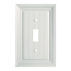 Liberty Hardware - Liberty Hardware 126358 Beadboard WP Collection 3.15 Inch Switch Plate - White - A simple change can make a huge impact on the look and feel of any room. Change out your old wall plates and give any room a brand new feel. Experience the look of a quality Liberty Hardware wall plate. Width - 3.15 Inch, Height - 4.9 Inch, Projection - 0.4 Inch, Finish - White, Weight - 0.13 Lbs.