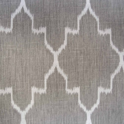 Custom Curtains, Monaco Linen Ikat by Gosia Figura - There are so many great options for curtains these days. This fabric is just beautiful.