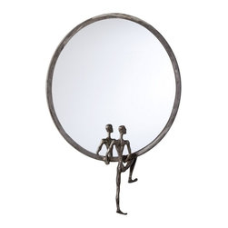Cyan Design - Cyan Design 18 Inch Round Kobe Mirror Number 1 in Grey - 18 Inch Round Kobe Mirror Number 1 in Grey
