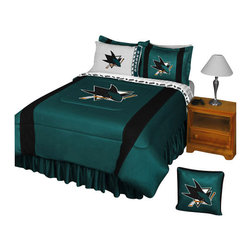 Store51 LLC - NHL San Jose Sharks Hockey Twin-Single Bed Comforter Set - FEATURES: