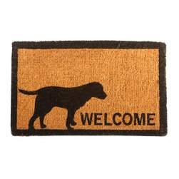 """CocoMatsNMore - CocoMatsNMore Labrador Design Coco Doormats - 18"""" X 30"""" - Eco-friendly Coco Mat are hand-woven and  made from 100% natural coir . These coco doormats are designed to last for a long time and are easy to maintain and clean by either shaking or hosing it down. Designed with fade-resistant dyes they are durable enough to withstand the harshness of weather and look good througout the year. Furthermore, they keep your house clean by doing a fabulous job of trapping the dirt, mud and debris right at the doorstep."""