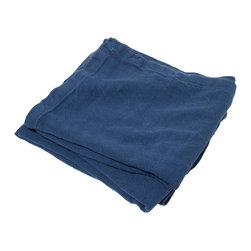 Brahms Mount - Brahms Mount - Indigo Linen Blanket - King - Made in USA - Linen blanket made in the USA by Brahms Mount of Maine. Flat-out luxurious offering the classic good looks and comfort of pure linen. Cool on hot, humid nights, warm and insulating in the winter, this heirloom-quality layer develops more drape, character and softness over time.