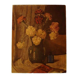 Still Life with Flowers Painting - Early 20th century