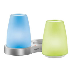Philips - Philips Candles IMAGEO 5-3/8 in. Candlelights Clear Color LED Table Lamp with - Shop for Independent Living at The Home Depot. Create a colored glowing ambiance in your home. Create a romantic colored soft glow like a traditional candle a bright red or allow the color to automatically cycle between 7 color choices. The IMAGEO Table Lights can be used anywhere in the home with the exceptionally elegant design.