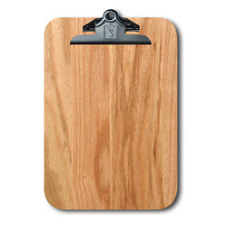 "Note Catchers by Winwood Designs - Red Oak Clipboard, Beautiful and Practical - A Classic American Clipboard designed to hold a standard pad of paper (8.5""X12""). Crafted from solid Appalachian Red Oak wood. Made in the USA with earth friendly American hardwoods. Perfect for home, office or field. Organize your day with this beautiful accessory. A desk for your mobile office!"