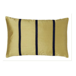 Jiti - Pieces Sage Pillow - Add a touch of Sage to your home decor with our Pieces Sage Pillow.  Perfect for any Room!  This pillow is made of Silk with 95% Feather and 5% down. Invisible zipper closure. Dry Clean Only
